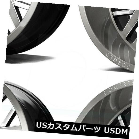 車用品 バイク用品 >> 内祝い タイヤ ホイール 海外輸入ホイール 22x12 AX AX1.4 8x170 Rims AXE Karbonブラシホイールリムセット Karbon -44 4 Wheels Set Brush 買物