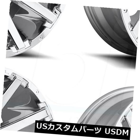 25%OFF 車用品 バイク用品 >> タイヤ ホイール 海外輸入ホイール 22x12 Fuel 豪華な Contra 8x180 -44 -44クロームホイールリムセット Wheels Set D614 Rims 4 Chrome