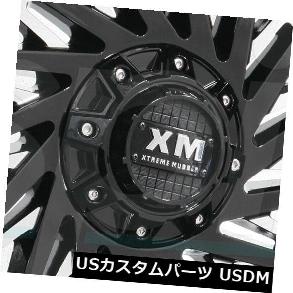 2021最新のスタイル 海外輸入ホイール 24x14 Xtreme/ Mudder XM330 Rims 6x135/ 6x5.5 -76グロスブラックミルドホイールリムセット(4) Wheels 24x14 Xtreme Mudder XM330 6x135/6x5.5 -76 Gloss Black Milled Wheels Rims Set(4), キヅクリマチ:de58d76c --- hafnerhickswedding.net