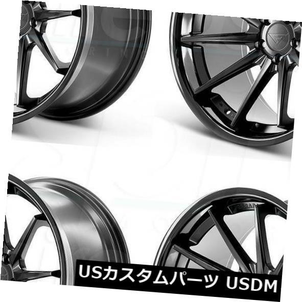 【在庫一掃】 海外輸入ホイール 20x9 Ferrada FR4 5x115 15マットブラックブラックリップホイールリムセット(4) 20x9 Ferrada FR4 5x115 15 Matte Black Black Lip Wheels Rims Set(4), 波佐見焼shop mignon 06f42fba