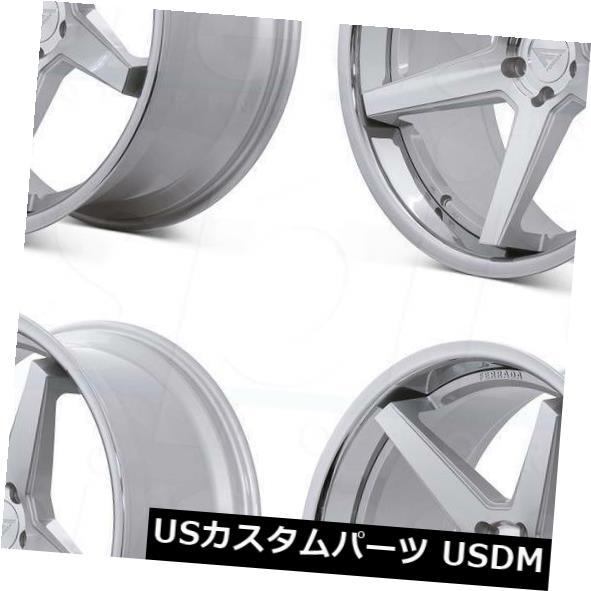 春新作の 海外輸入ホイール 20x9 Ferrada FR3 5x114.3 25マシンシルバークロームリップホイールリムセット(4) 20x9 Ferrada FR3 5x114.3 25 Machine Silver Chrome Lip Wheels Rims Set(4), ゴセシ b3d2e462