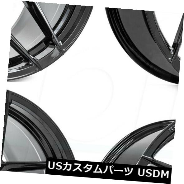 新入荷 海外輸入ホイール 20x10/ 5x114.3 20x11 Rohana RFX11 Wheels 5x114.3 Rohana 40/50ブラックホイールリムセット(4) 20x10/20x11 Rohana RFX11 5x114.3 40/50 Black Wheels Rims Set(4), ヤスシ:34ad8734 --- camminobenedetto.localized.me