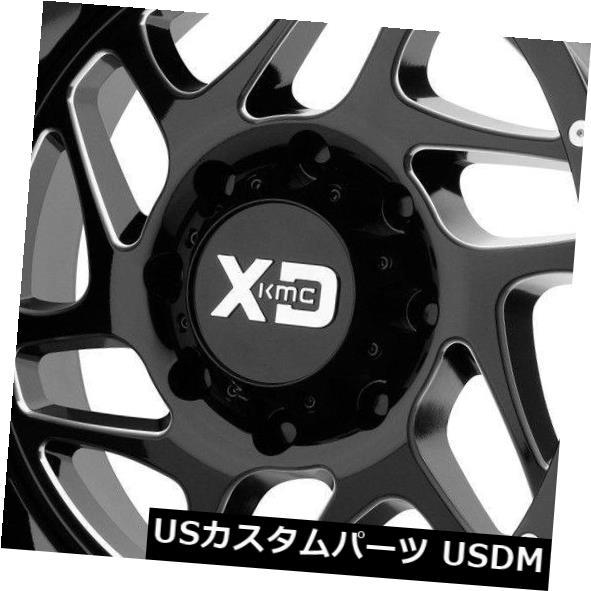 【史上最も激安】 海外輸入ホイール 22x10 XD XD836 Fury -18 Set(4) 8x6.5/ 8x165.1 Milled -18ブラックミルドホイールリムセット(4) 22x10 XD XD836 Fury 8x6.5/8x165.1 -18 Black Milled Wheels Rims Set(4), いまどき本舗:49f90f43 --- hafnerhickswedding.net