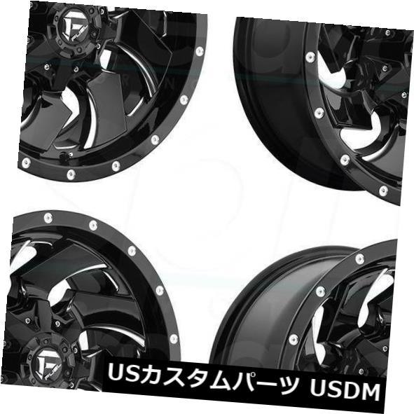 最高の品質 海外輸入ホイール 20x8.25フューエルクリーバーD574 8x210 Black 海外輸入ホイール 105ブラックミルドホイールリムセット(4) 20x8.25 Fuel Milled Cleaver D574 8x210 105 Black Milled Wheels Rims Set(4), 公式の店舗:9d2bfe1a --- promilahcn.com