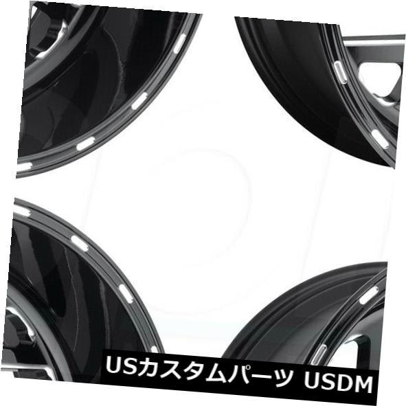 【正規販売店】 海外輸入ホイール 20x8.25燃料Triton D581 8x210 -221ブラックミルドホイールリムセット(4) 20x8.25 Fuel Triton D581 8x210 -221 Black Milled Wheels Rims Set(4), ヒガシクニサキグン 79ac4a61