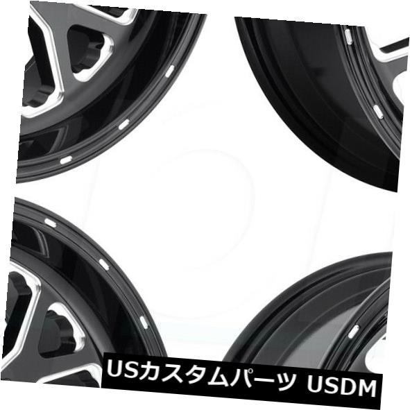 【在庫処分】 海外輸入ホイール 22x12 Fuel Titan D588 6x135 / 6x5.5 -44ブラックミルドホイールリムセット(4) 22x12 Fuel Titan D588 6x135/6x5.5 -44 Black Milled Wheels Rims Set(4), 木更津市 916d2edb