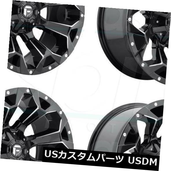 誠実 海外輸入ホイール 22x12 Fuel Assault D546 5x4.5 / 5x5 / 5x12 7 -44ブラックミルドホイールリムセット(4) 22x12 Fuel Assault D546 5x4.5/5x5/5x127 -44 Black Milled Wheels Rims Set(4), Salada Bowl-おしゃれブランド通販 8ee9db2d