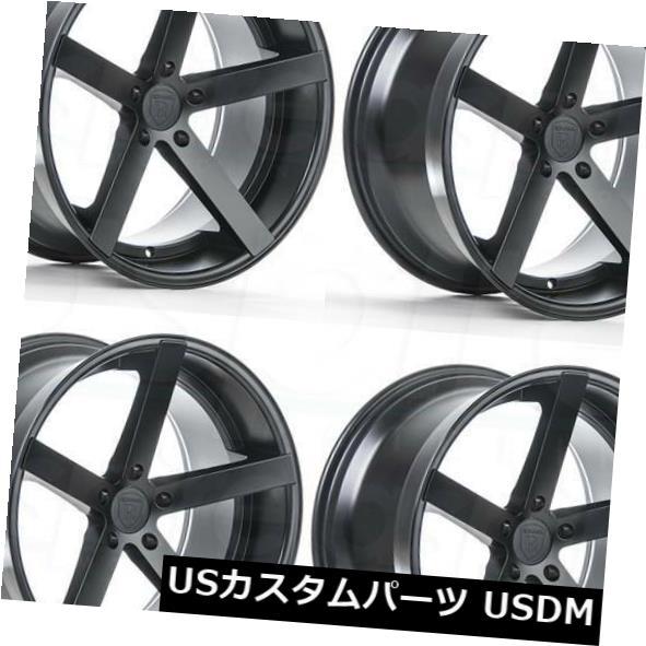 新しいブランド 海外輸入ホイール 20x9 / 20x10 Rohana RC22 5x112 25/33マットブラックホイールリムセット(4) 20x9/20x10 Rohana RC22 5x112 25/33 Matte Black Wheels Rims Set(4), エーアンドエー e134ff6c