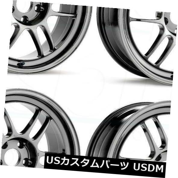 海外輸入ホイール 18x9.5 Enkei RPF1 5x114.3 15特殊ブリリアントコーティング PVD ホイールリムセット 4 18x9.5 Enkei RPF1 5x114.3 15 Special Brilliant Coating PVD W
