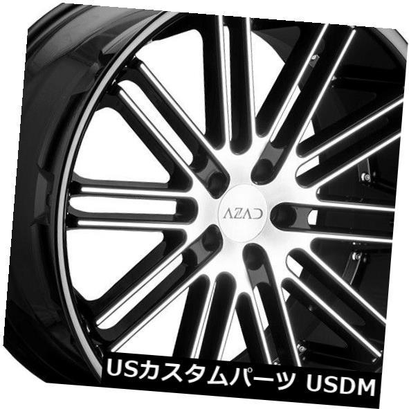 最安 海外輸入ホイール 22x9 Azad 22x9 AZ22 Set(4) 5x120 30ブラックマシニングホイールリムセット(4) 22x9 Black Azad AZ22 5x120 30 Black Machined Wheels Rims Set(4), 酒の番人 ヤマカワ:f779ae9f --- dibranet.com