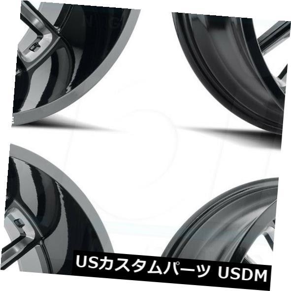 春早割 海外輸入ホイール 20x12敵対的なH115プレデター6x5.5/ 6x139.7 Set(4) -44ブラックミルドホイールリムセット(4) Hostile 20x12 Hostile 6x5.5/6x139.7 H115 Predator 6x5.5/6x139.7 -44 Black Milled Wheels Rims Set(4), 【SEAL限定商品】:2acc3d10 --- greencard.progsite.com