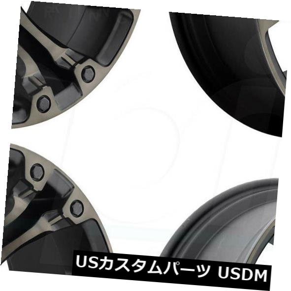 日本最級 海外輸入ホイール 22x10燃料蒸気D569 8x180 -18黒の機械加工ホイールリムセット(4) Rims D569 22x10 Machined Fuel Vapor D569 8x180 -18 Black Machined Wheels Rims Set(4), トヨヒラチョウ:88eb0aea --- bellsrenovation.com