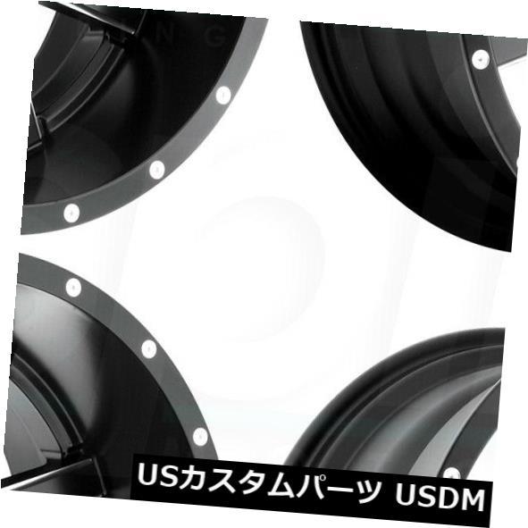 国内発送 海外輸入ホイール 22x9.5 Fuel Maverick D610 6x135 / 6x5.5 25ブラックミルドホイールリムセット(4) 22x9.5 Fuel Maverick D610 6x135/6x5.5 25 Black Milled Wheels Rims Set(4), 宮津市 5a5825a0