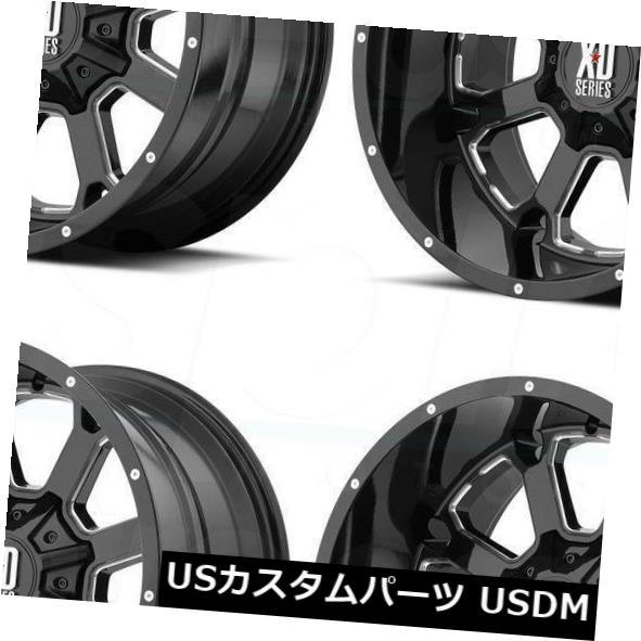 【代引き不可】 海外輸入ホイール 20x12 8x180 XD825 XD XD825 Buck 25 8x180 -44ブラックミルドホイールリムセット(4) Buck 20x12 XD XD825 Buck 25 8x180 -44 Black Milled Wheels Rims Set(4), SHARE'S GARDEN-シェアズガーデン:3e101911 --- greencard.progsite.com