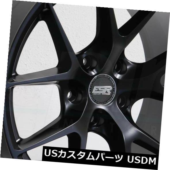 【国内在庫】 海外輸入ホイール 19x8.5/ 19x10.5 ESR RF02 RF2/ RF2 5x112 RF02 30/22マットブラックホイールリムセット(4) 19x8.5/19x10.5 ESR RF02 RF2 5x112 30/22 Matte Black Wheels Rims Set(4), SPIRAL SCRATCH:ac02461e --- lucyfromthesky.com