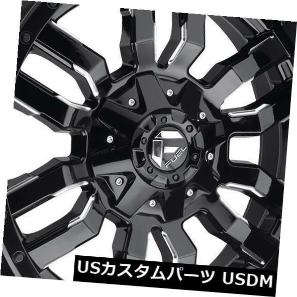 配送員設置 海外輸入ホイール 20x10燃料スレッジD595 8x170 -18ブラックミルドホイールリムセット(4) 20x10 Fuel 8x170 Sledge Fuel Wheels D595 8x170 -18 Black Milled Wheels Rims Set(4), モジク:9f8e569a --- asthafoundationtrust.in