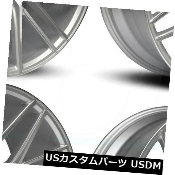 注目のブランド 海外輸入ホイール 22x9ロードフォースRF13 5x130 45シルバーホイールリムセット(4) 22x9 Road Force RF13 5x130 45 Silver Wheels Rims Set(4), one.heart edb3f11e