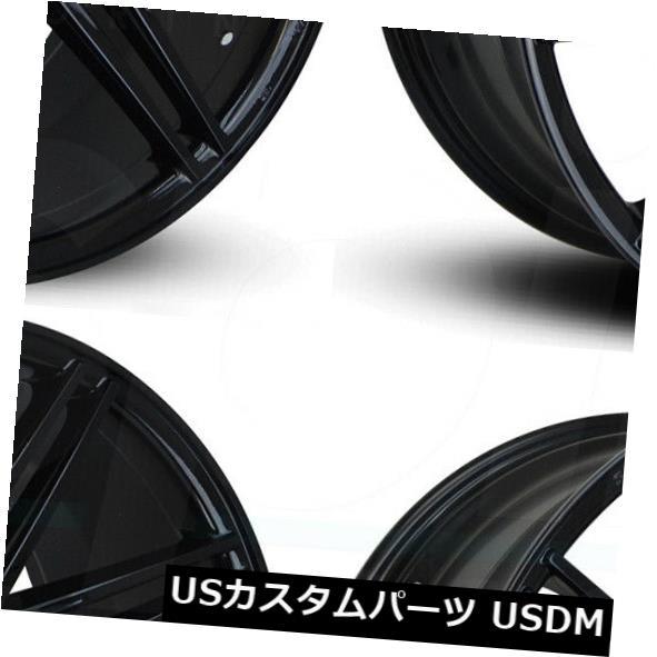 2021年新作 海外輸入ホイール 22x9 / 22x10.5ロードフォースRF11.1 5x130 45/40ブラックホイールリムセット(4) 22x9/22x10.5 Road Force RF11.1 5x130 45/40 Black Wheels Rims Set(4), e-adhoc f88de674