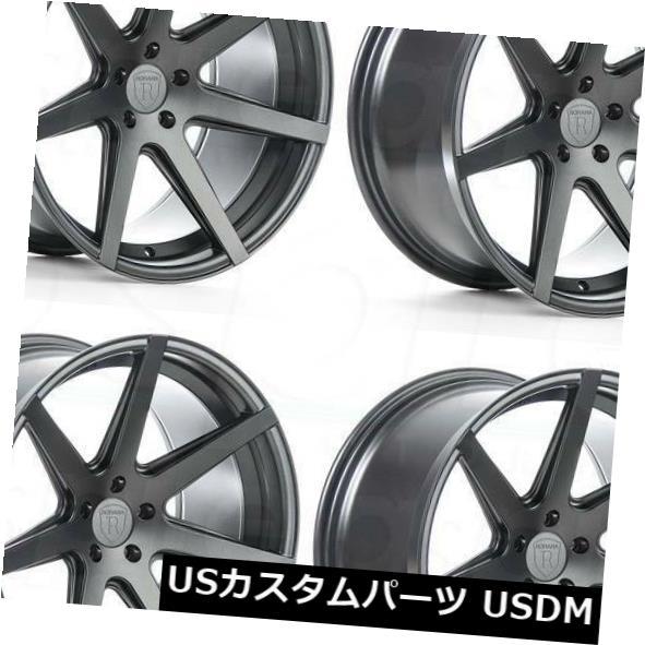 海外輸入ホイール 19x8.5 Rohana RC7 5x120 33グラファイトホイールリムセット(4) 19x8.5 Rohana RC7 5x120 33 Graphite Wheels Rims Set(4)