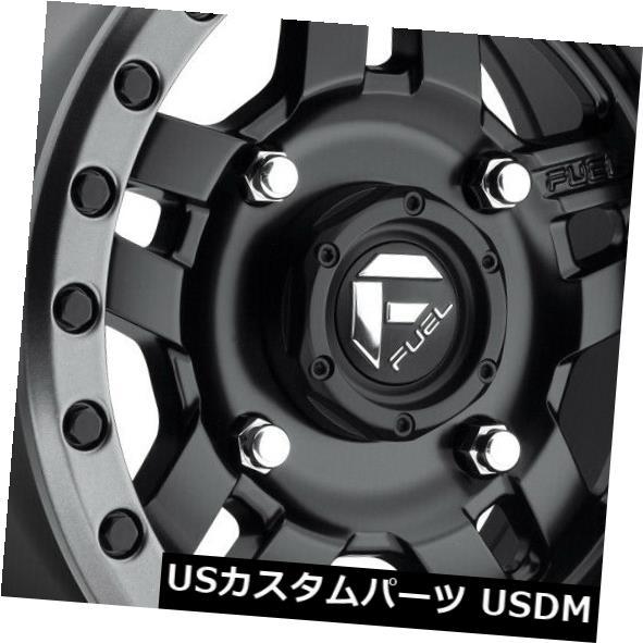 海外輸入ホイール 15x7 ET13 Fuel D557 Anza Utv 4x110マットブラックホイール(4個セット) 15x7 ET13 Fuel D557 Anza Utv 4x110 Matte Black Wheels (Set of 4)