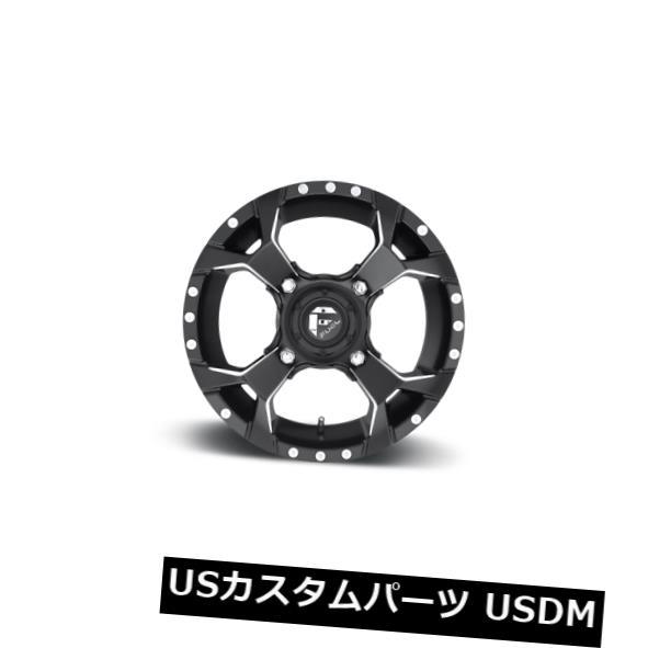 海外輸入ホイール 15x7 ET13 Fuel D546 Assault 4x156 Black Milled Wheels(4個セット) 15x7 ET13 Fuel D546 Assault 4x156 Black Milled Wheels (Set of 4)