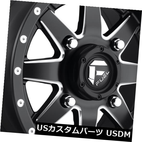 海外輸入ホイール 15x7 ET13 Fuel D538 Maverick 4x136ブラックミルドホイール(4個セット) 15x7 ET13 Fuel D538 Maverick 4x136 Black Milled Wheels (Set of 4)