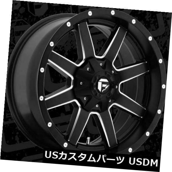 海外輸入ホイール 20x9 ET20 Fuel D538 Maverick 8x180 Black Milled Rims(4個セット) 20x9 ET20 Fuel D538 Maverick 8x180 Black Milled Rims (Set of 4)