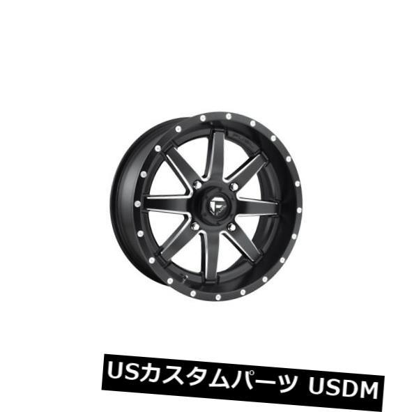 海外輸入ホイール 18x7 ET13 Fuel D538 Maverick 4x156ブラックミルドホイール(4個セット) 18x7 ET13 Fuel D538 Maverick 4x156 Black Milled Wheels (Set of 4)