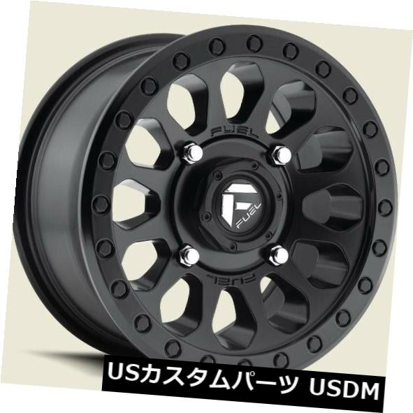 海外輸入ホイール 15x7 ET38 Fuel D579 Vector Utv 4x136 Matte Black Rims(4個セット) 15x7 ET38 Fuel D579 Vector Utv 4x136 Matte Black Rims (Set of 4)