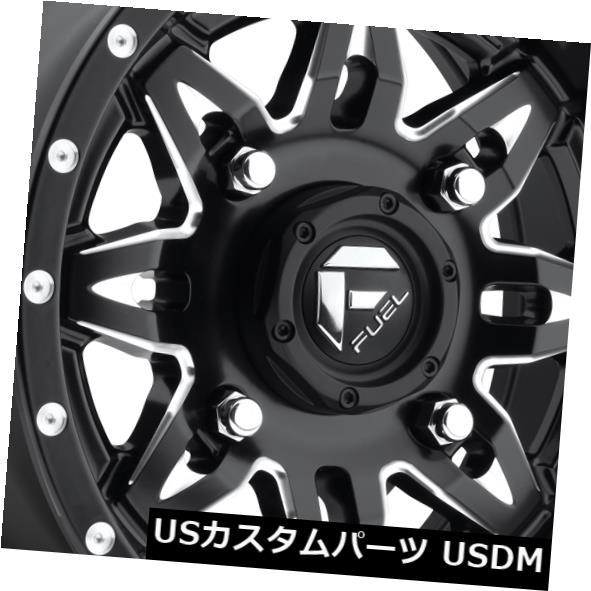 海外輸入ホイール 15x7 ET13燃料D567致死4x136ブラックミルドリム(4個セット) 15x7 ET13 Fuel D567 Lethal 4x136 Black Milled Rims (Set of 4)