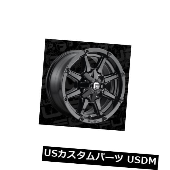 海外輸入ホイール 18x9 ET-12 Fuel D575カプラー6x135 / 6x139.7ブラックホイール(4個セット) 18x9 ET-12 Fuel D575 Coupler 6x135/6x139.7 Black Wheels (Set of 4)