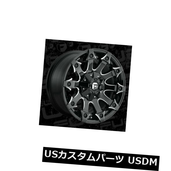 海外輸入ホイール 18x9 ET-12 Fuel D578 Battle Axe 5x114.3 / 5x127 Black Milled Rims(4個セット) 18x9 ET-12 Fuel D578 Battle Axe 5x114.3/5x127 Black Milled Rims (Set of 4)