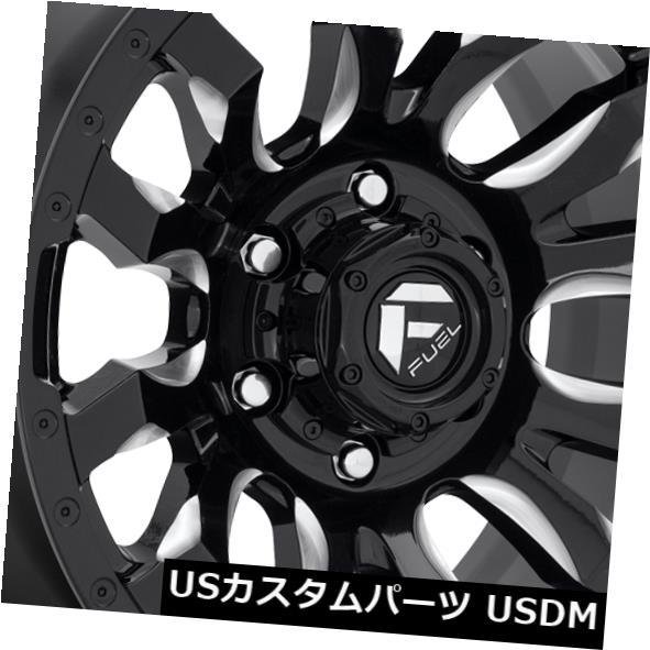 海外輸入ホイール 20x9 ET20 Fuel D673 Blitz 5x150 Black Milled Wheels(4個セット) 20x9 ET20 Fuel D673 Blitz 5x150 Black Milled Wheels (Set of 4)