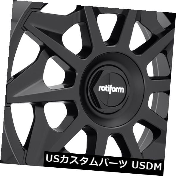 予約販売 海外輸入ホイール 20x8.5 ET45 ET45 Rotiform R129 Cvt 5x108 of R129/ 5x114.3マットブラックホイール(4個セット) 20x8.5 ET45 Rotiform R129 Cvt 5x108/5x114.3 Matte Black Wheels (Set of 4), コスメレシピ:365c03ea --- arg-serv.ru