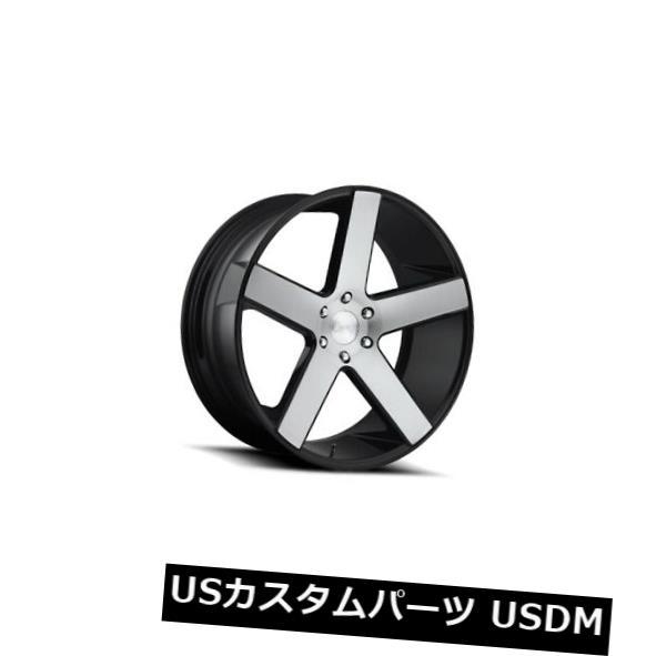 【ファッション通販】 海外輸入ホイール 24x10 ET11ダブS217バラー5x127ブラックブラッシュホイール(4個セット) 24x10 ET11 Dub S217 Baller 5x127 Black Brushed Wheels (Set of 4), オオタケシ 481dc04f