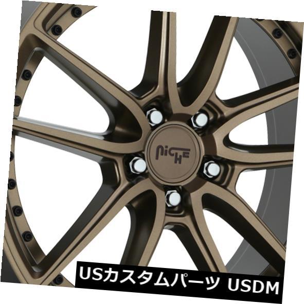海外輸入ホイール 22x9 ET38ニッチM222 DFS 5x114.3ブロンズホイール(4個セット) 22x9 ET38 Niche M222 Dfs 5x114.3 Bronze Wheels (Set of 4)