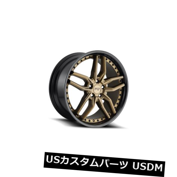 海外輸入ホイール 20x9 ET42ニッチM195メトス5x112ブロンズw /ブラックリップリム(4個セット) 20x9 ET42 Niche M195 Methos 5x112 Bronze w/ Black Lip Rims (Set of 4)
