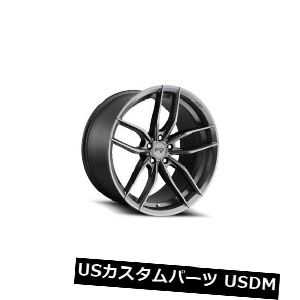 海外輸入ホイール 22x10.5 ET40ニッチM204 Vosso 5x114.3無煙炭ホイール(4個セット) 22x10.5 ET40 Niche M204 Vosso 5x114.3 Anthracite Wheels (Set of 4)