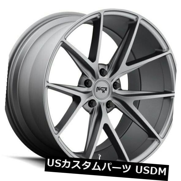 海外輸入ホイール 19x8.5 ET35 Niche M116 Misano 5x120マット無煙炭ホイール(4個セット) 19x8.5 ET35 Niche M116 Misano 5x120 Matte Anthracite Wheels (Set of 4)