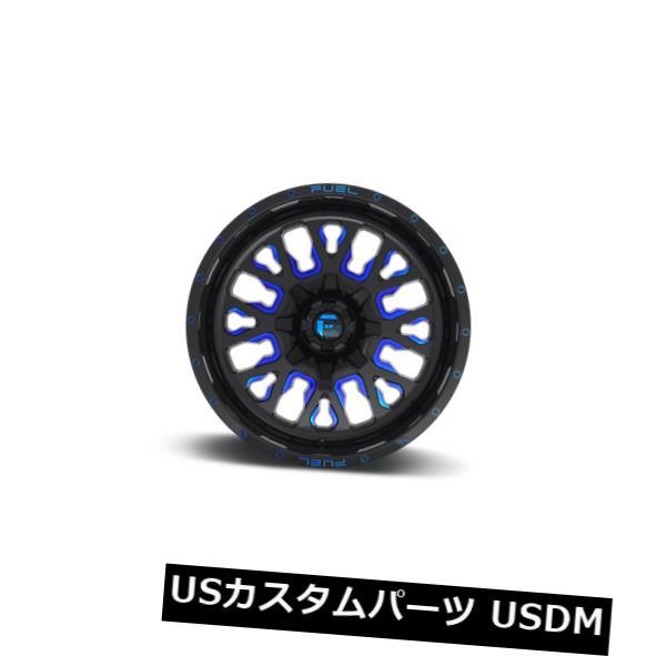 【超ポイントバック祭】 海外輸入ホイール 20x12 ET-43燃料D645ストローク8x165.1ブラック(キャンディブルーリム付き)(4個セット) 20x12 ET-43 Fuel D645 Rims Stroke (Set 8x165.1 of Black w/Candy Blue Rims (Set of 4), 壬生町:14df5048 --- dibranet.com