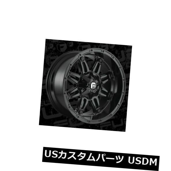 海外輸入ホイール 20x10 ET-18燃料D625人質5x139.7 / 5x150ブラックリム(4個セット) 20x10 ET-18 Fuel D625 Hostage 5x139.7/5x150 Black Rims (Set of 4)