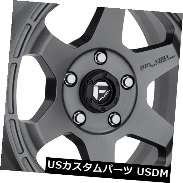 海外輸入ホイール 18x9 ET-12 Fuel D665 Shok 5x127マット無煙炭ホイール(4個セット) 18x9 ET-12 Fuel D665 Shok 5x127 Matte Anthracite Wheels (Set of 4)