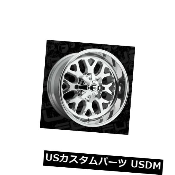 ラウンド  海外輸入ホイール 20x10 ET-18燃料D586 Titan 6x135 / 6x139.7ポリッシュリム(4個セット) 20x10 ET-18 Fuel D586 Titan 6x135/6x139.7 Polished Rims (Set of 4), 舞網工房 マイアミクラフト 2592f552