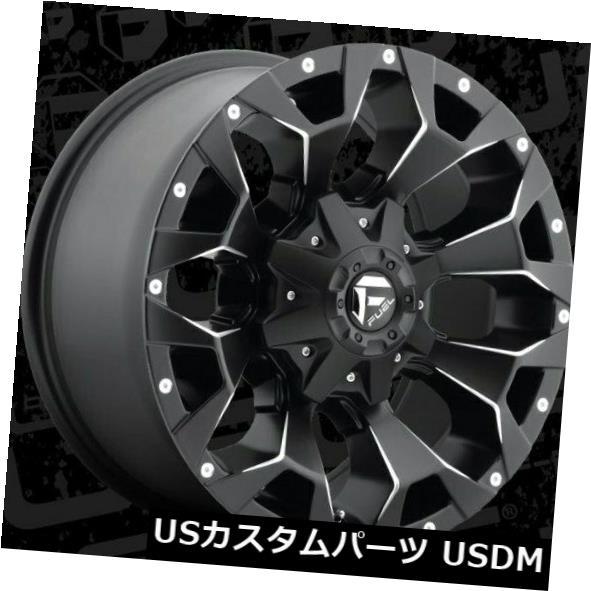 海外輸入ホイール 18x9 ET20 Fuel D546 Assault 8x170 Black Milled Wheels(4個セット) 18x9 ET20 Fuel D546 Assault 8x170 Black Milled Wheels (Set of 4)