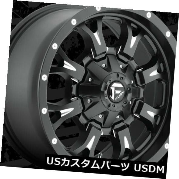 海外輸入ホイール 18x9 ET-13燃料D517クランク6x135 / 6x139.7ブラックミルドリム(4個セット) 18x9 ET-13 Fuel D517 Krank 6x135/6x139.7 Black Milled Rims (Set of 4)