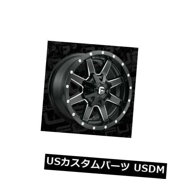 海外輸入ホイール 18x9 ET13 Fuel D610 Maverick 6x135 / 6x139.7ブラックミルドリム(4個セット) 18x9 ET13 Fuel D610 Maverick 6x135/6x139.7 Black Milled Rims (Set of 4)