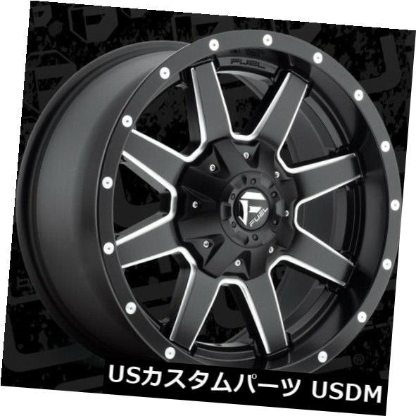 海外輸入ホイール 18x9 ET14 Fuel D538 Maverick 6x135 / 6x139.7ブラックミルドホイール(4個セット) 18x9 ET14 Fuel D538 Maverick 6x135/6x139.7 Black Milled Wheels (Set of 4)