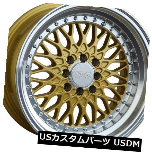 海外輸入ホイール 16X8 20 XXR 536 4x100 114.3ゴールド マシンリップホイール 4個セット 16X8 20 XXR 536 4x100 114.3 Gold Machine Lip Wheels Set of 4