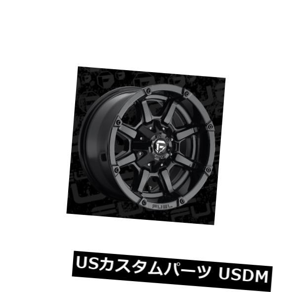 海外輸入ホイール 17x9 ET-12 Fuel D575カプラー6x135 / 6x139.7ブラックホイール(4個セット) 17x9 ET-12 Fuel D575 Coupler 6x135/6x139.7 Black Wheels (Set of 4)