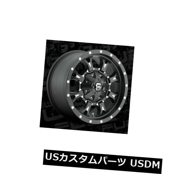 海外輸入ホイール 17x9 ET-12燃料D517クランク5x127 / 5x139.7ブラックミルドリム(4個セット) 17x9 ET-12 Fuel D517 Krank 5x127/5x139.7 Black Milled Rims (Set of 4)